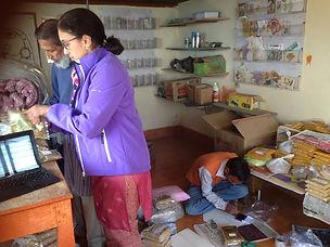 Sujata and Mohan ji in office!.JPG