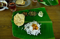 Lunch on a banana leaf
