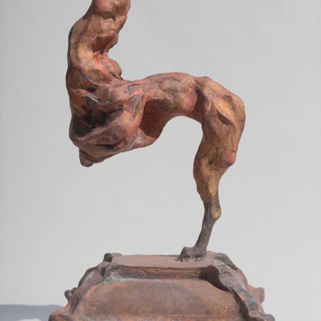 Greyhound, 31 x 16 x 14 cm, bronze.