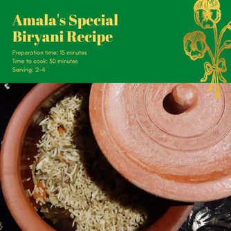 RECIPE: Amala's Special Biryani