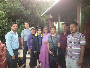 Mataji and the group from Singapore.jpg
