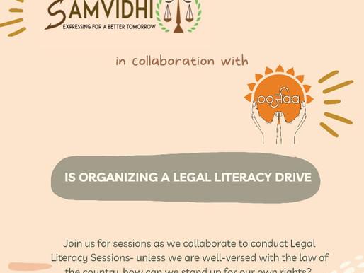 Team SamVidhi & Team Oorjaa: Legal literacy sessions