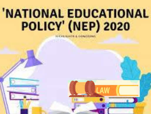 NEW EDUCATION POLICY 2020 AND LEGAL EDUCATION
