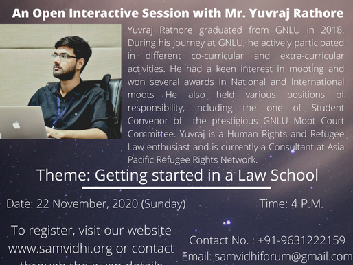 Open Interactive Session with Mr. Yuvraj Rathore