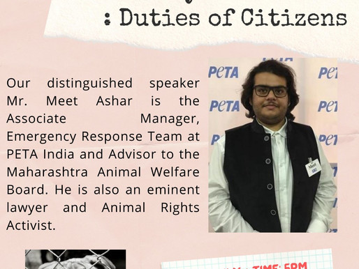 Webinar on 'Prevention of Cruelty to Animals: Duties of Citizens'