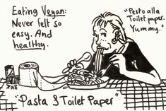 Pasta and toilet paper
