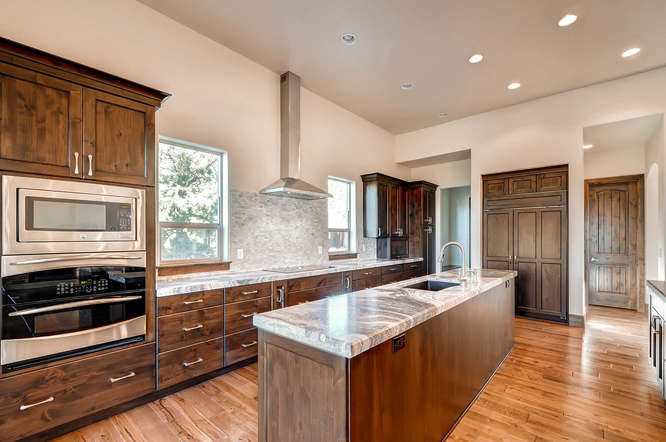 Beautiful wood and marble kitchen