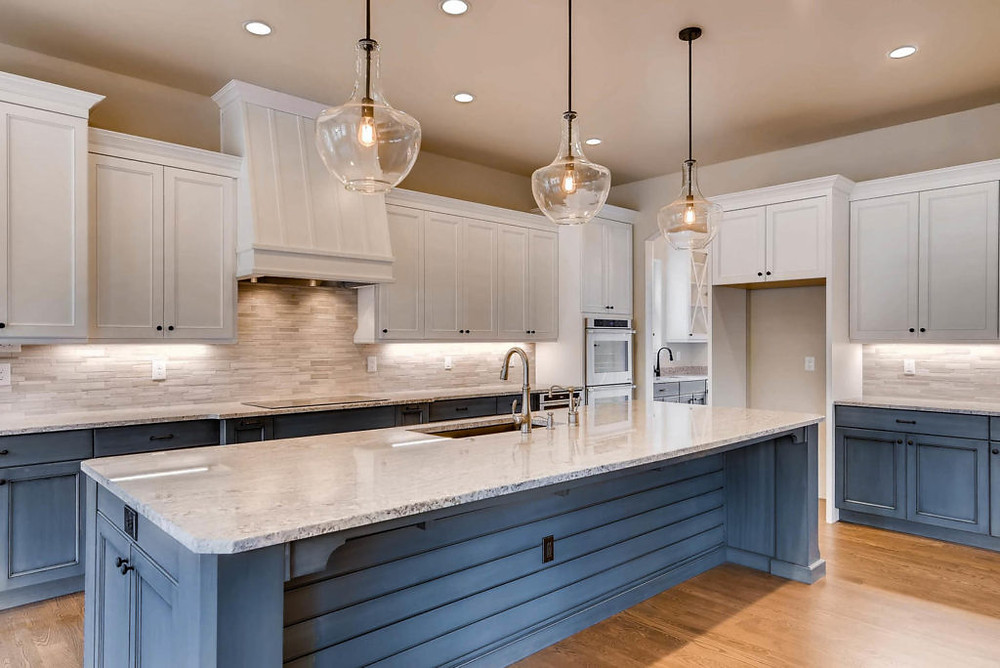 Beautiful Quartz Kitchen Island