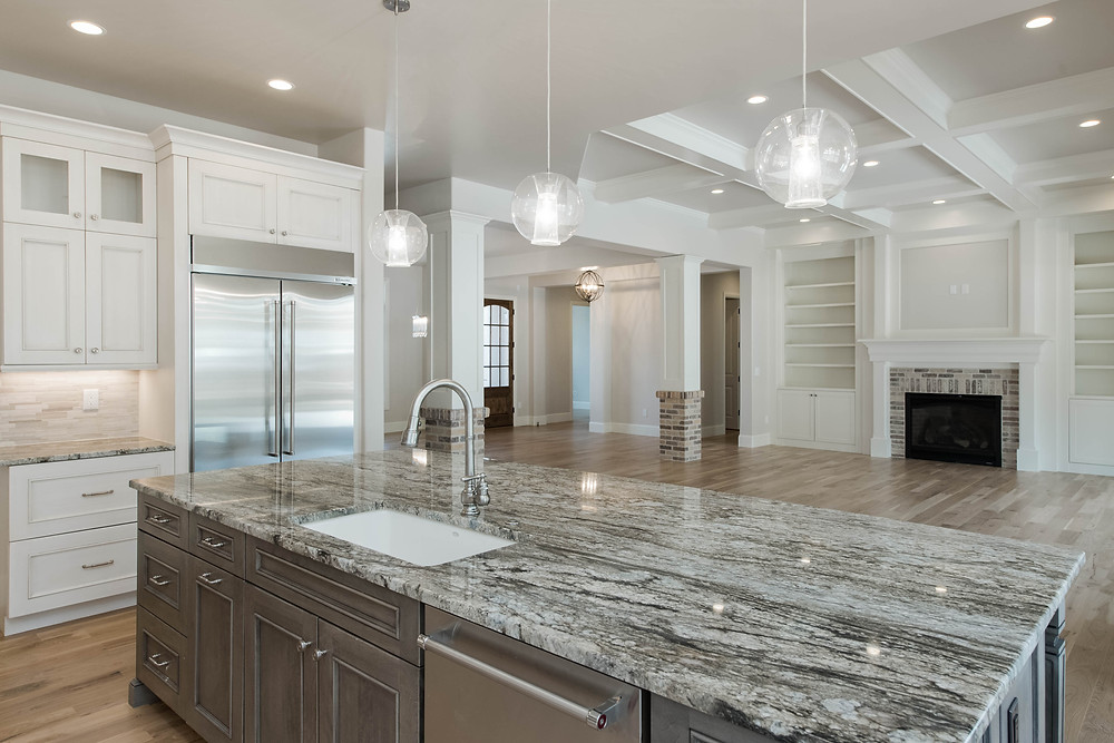 Modern Marble White Kitchen