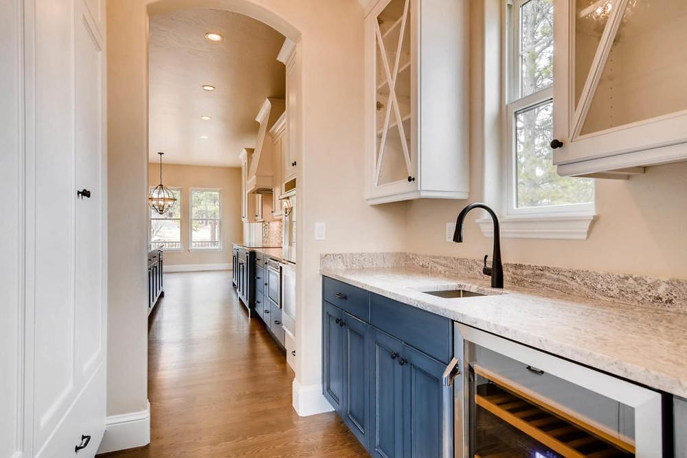 Blue Cabinet Kitchen