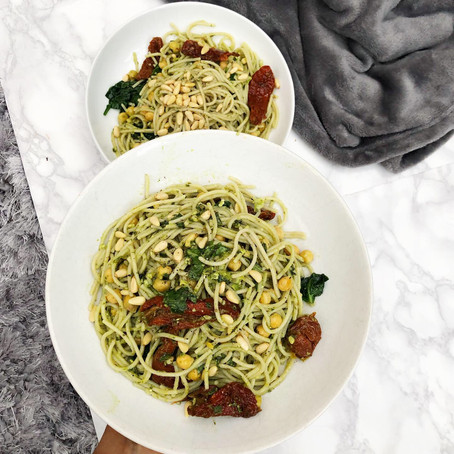 My Simple & delicious, 'Free from' Pesto Pasta...