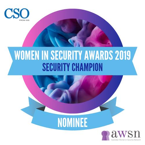 201910 Women in Security Award Nominee