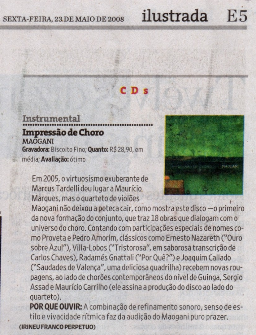 Crítica folha 2008