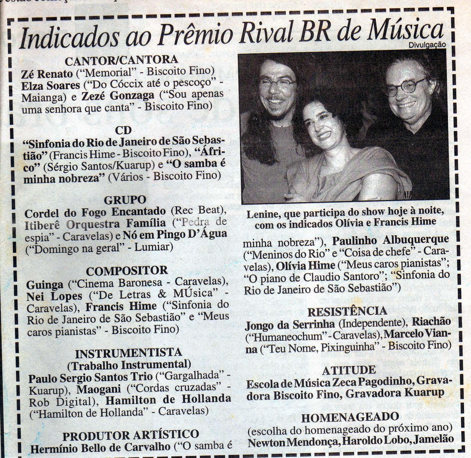 Indicação Prêmio Rival-BR