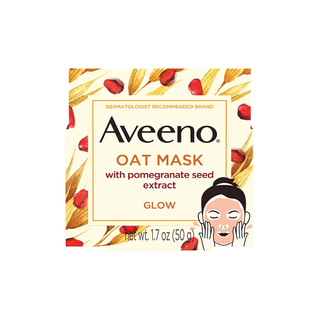 Aveeno oat mask with pomegranate seed