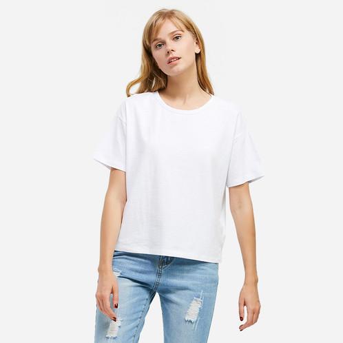Crew Neck Side Slit T-shirt