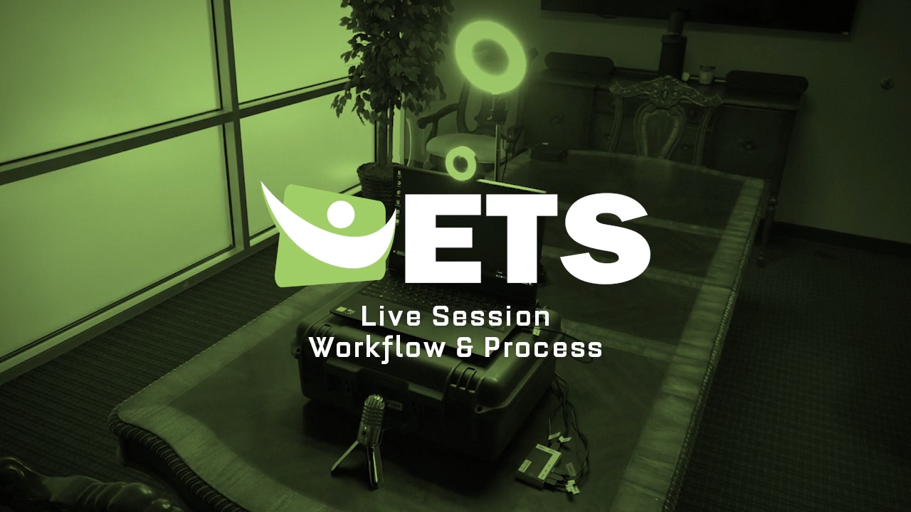 A review of the workflow and procedures when hosting a live session.