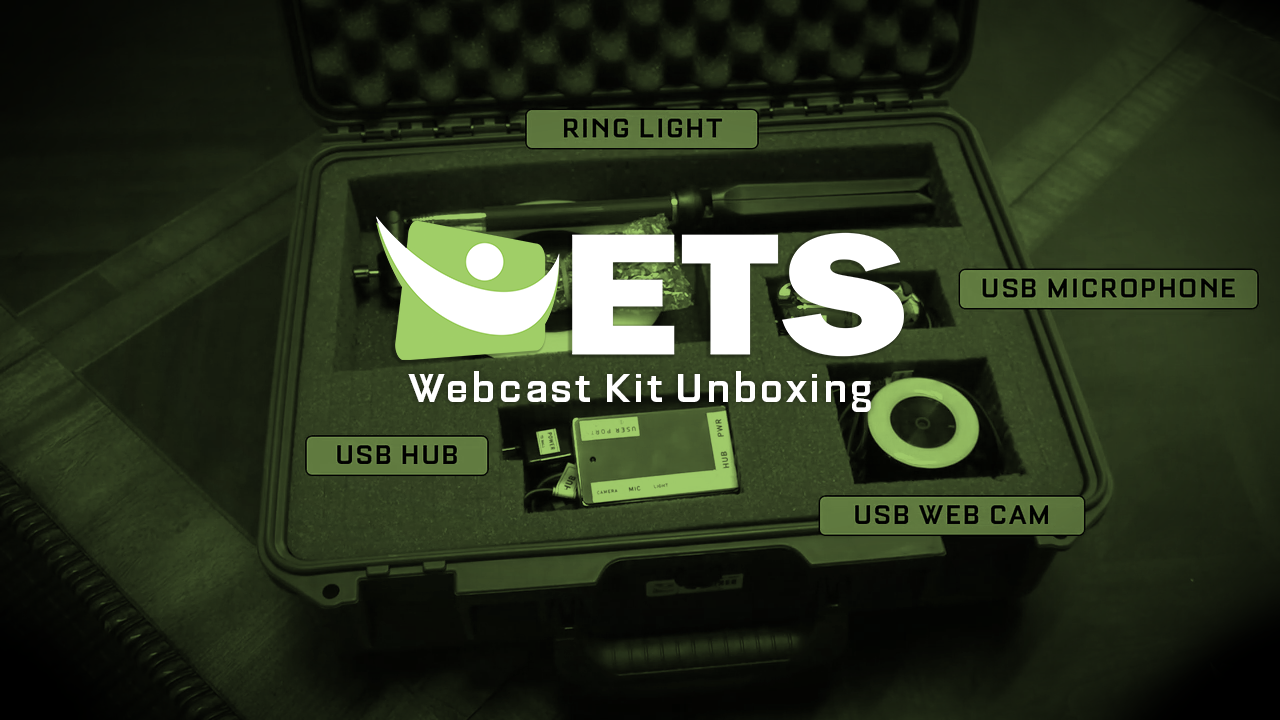 How to unbox and setup your ETS Webcasting Kit.