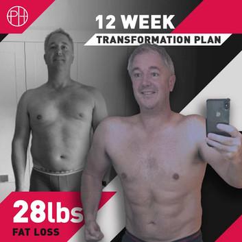 1. Chris Davies12 Weeks - 28lbs Fat Loss