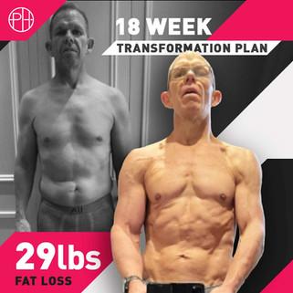 29. Sean Cardinaal 18 Weeks - 29lbs Fat