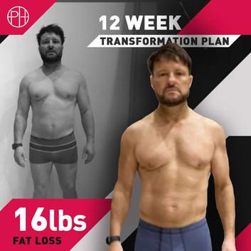 24. Glen Weatherall 12 Weeks - 16lbs los