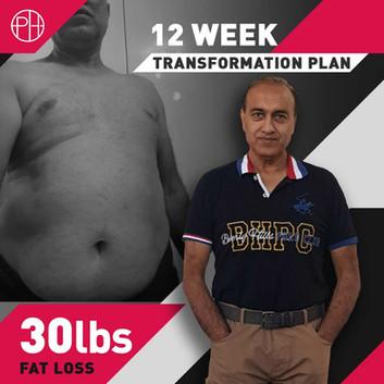 13. Aamir Tariq - 12 Weeks - 30lbs Loss.