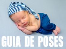 Guia de poses básicas - Ensaio Newborn
