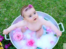 Um relaxante banho de leite!