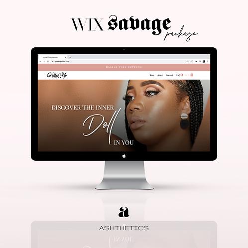 Wix Website Savage Package