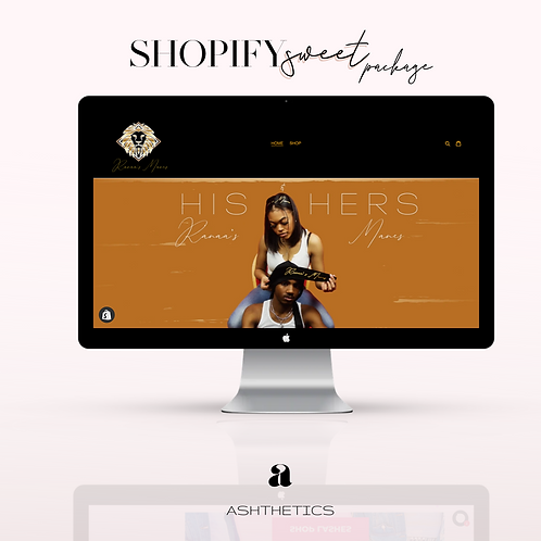 "Shopify Website ""Sweet Package"""