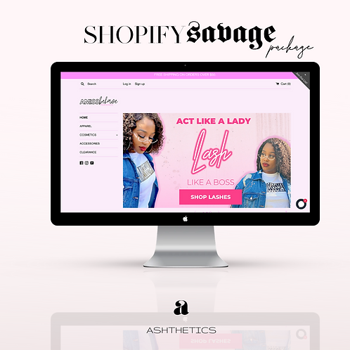 Shopify Website Savage Package