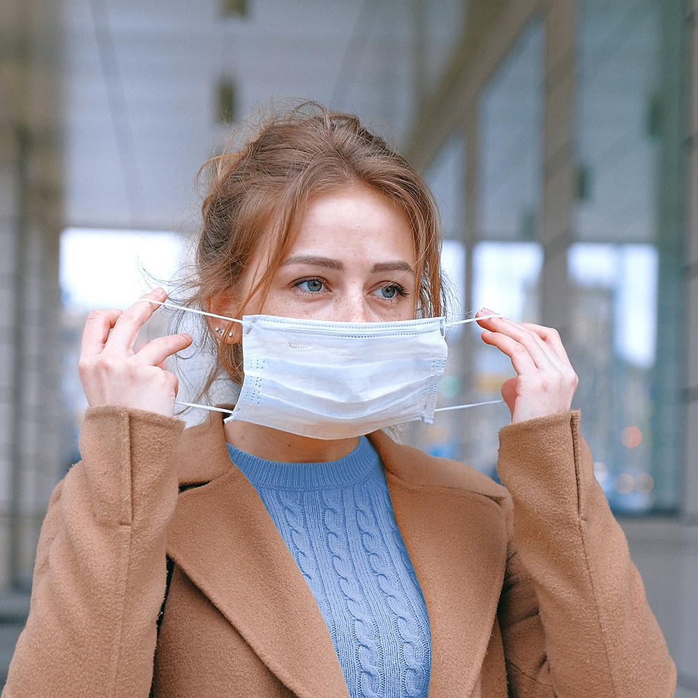wennen aan een mondkapje