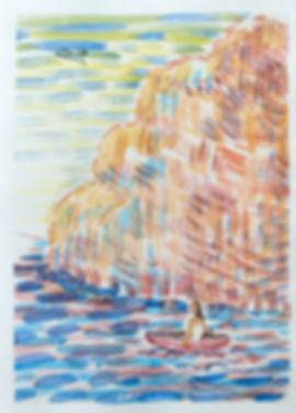 13_boot by the rock_41,5x29,7cm_monotype