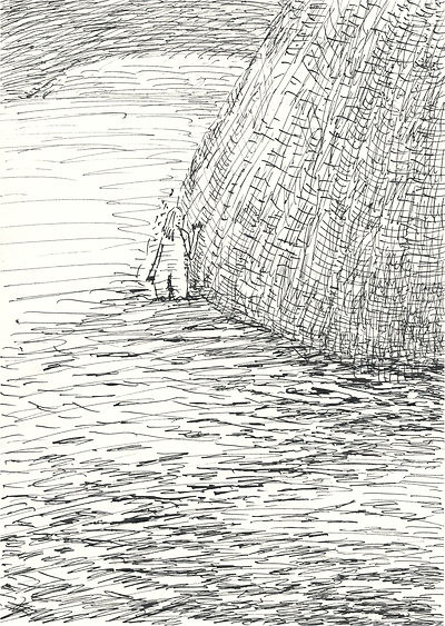 7_behind the rock_A4(29,7x21cm)_ink_2019