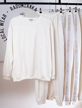 Bluza oversize kremowa biel_live