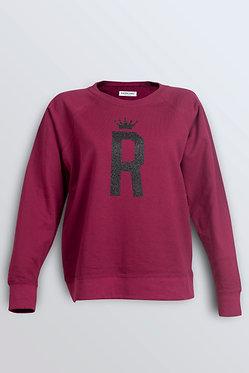 """Bluza  bordo """"R"""""""