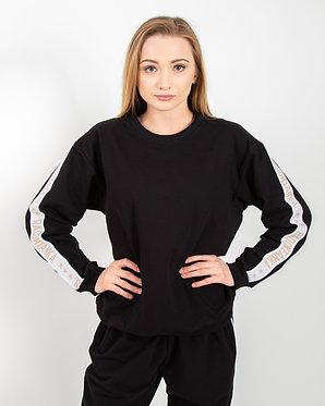 Bluza oversize z lampasami black