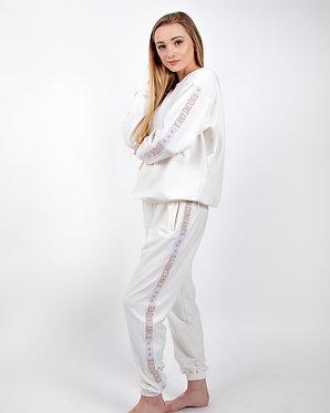 Spodnie oversize kremowa biel