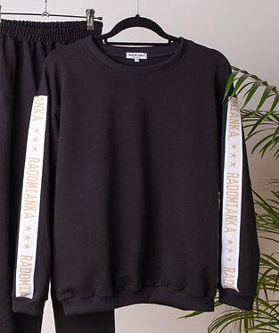 Bluza oversize z lampasami black_live