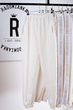 Spodnie oversize kremowa biel_live