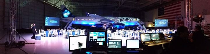 Supplied video systems for JetBlue event