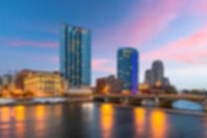 Grand Rapids, Michigan, USA downtown sky
