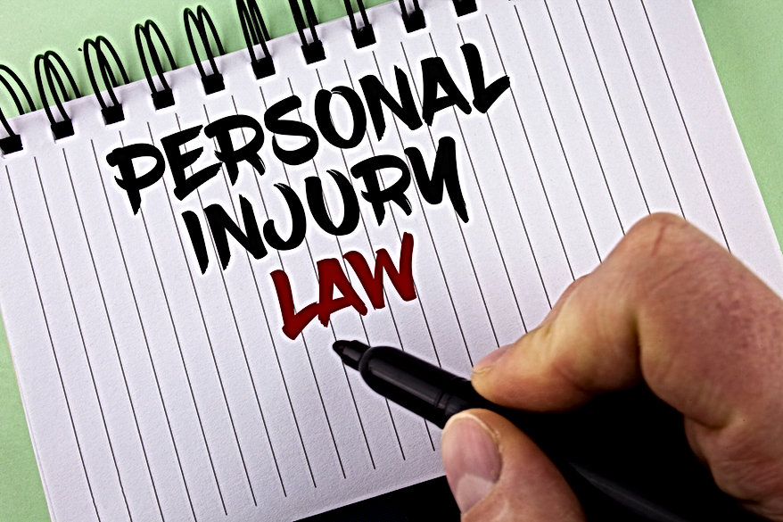 Text sign showing Personal Injury Lawyer. Doud Smith Wagner.