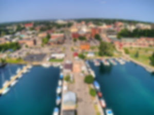 Marquette, Michigan is a port city on th