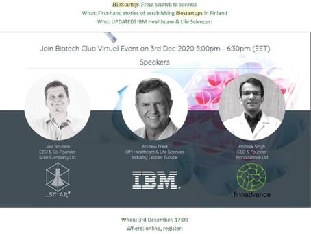 Join Biotech Club Virtual Event on Dec. 3rd!