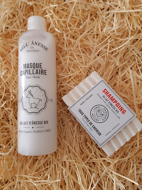 Masque capillaire + shampoing solide