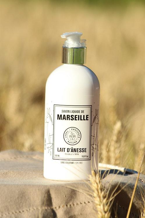 Savon liquide de Marseille au lait d'ânesse