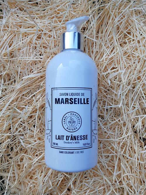 Savon liquide de Marseille au lait d'anesse