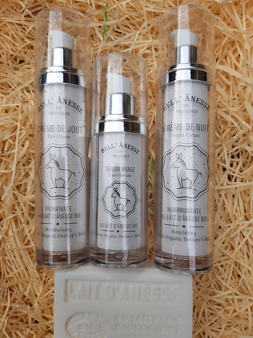 3 crèmes soin du visage + savon