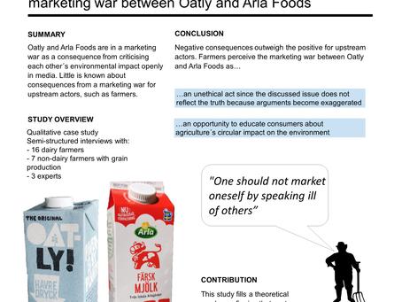 The   upstream consequences from a marketing war – Acasestudyofthe marketing war between Oatly